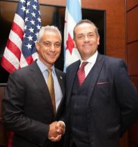 Cllr John Clancy with Chicago Mayor Rahm Emanuel