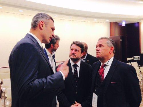 Vitali Klitschko and Cllr John Clancy